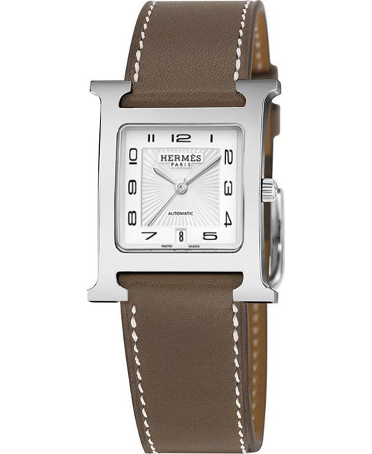 Hermes H Hour 039927ww00 Automatic Medium MM 26.4mm