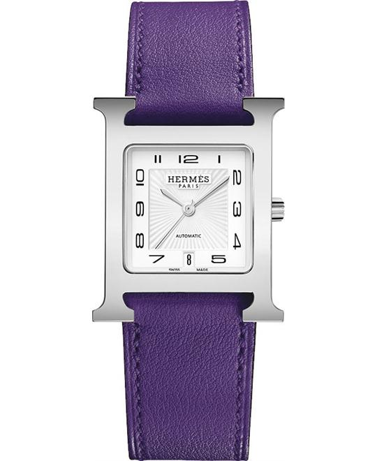 Hermes H Hour 039930ww00 Automatic Medium MM 26.4mm