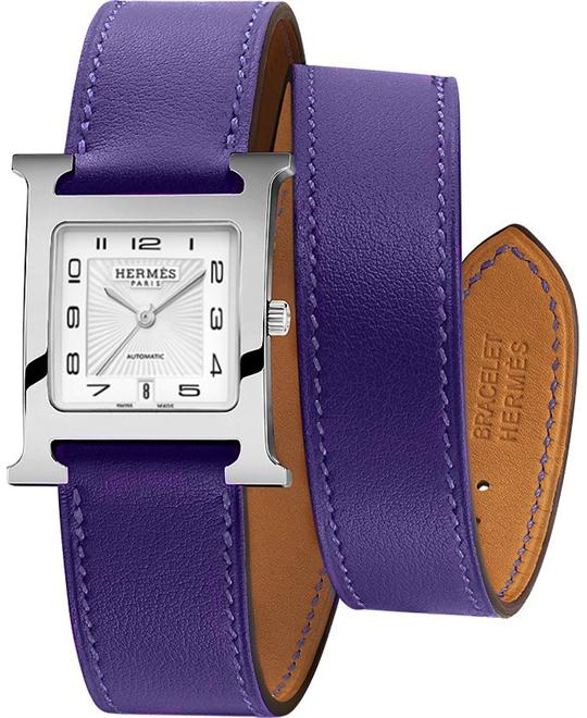 Hermes H Hour 039932ww00 Automatic Medium MM 26.4mm