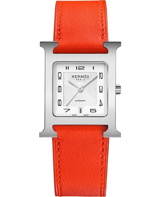Hermes H Hour 039944ww00 Automatic Medium MM 26.4mm