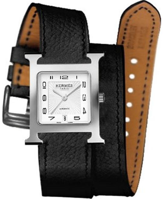 Hermes H Hour 041188ww00 Automatic Medium MM 26.4mm