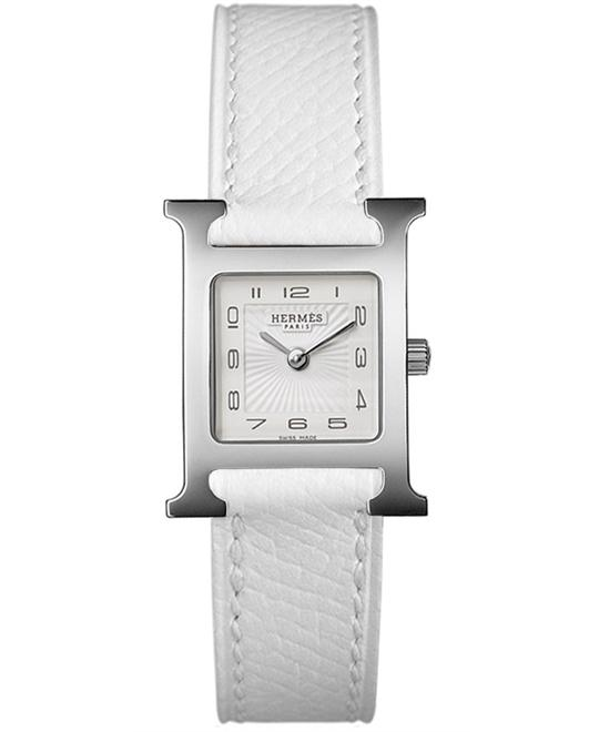 Hermes H Hour 036700WW00 Small PM Watch 21x21mm