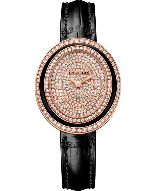 dong ho nu Cartier HYPNOSE WJHY0010 18K PINK GOLD DIAMONDS 30 x 26.2
