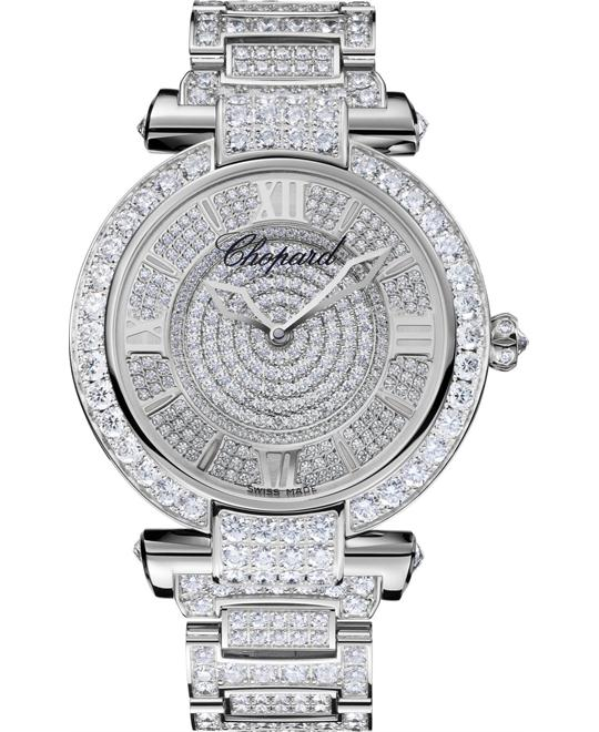 dong ho kim cuong chopard IMPERIALE 384239-1002 18K WHITE AND DIAMONDS WATCH 40MM