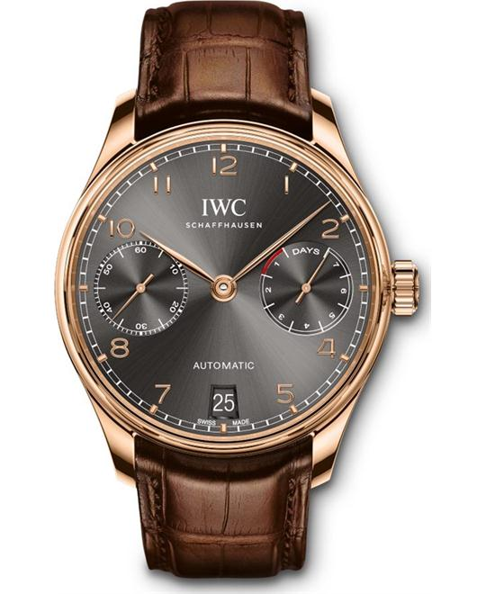 đồng hồ nam IWC Portugieser IW500702 Automatic Leather 42.3 mm