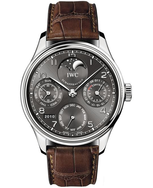 IWC IW502307 Mens 18kt White Gold Leather 44.2mm