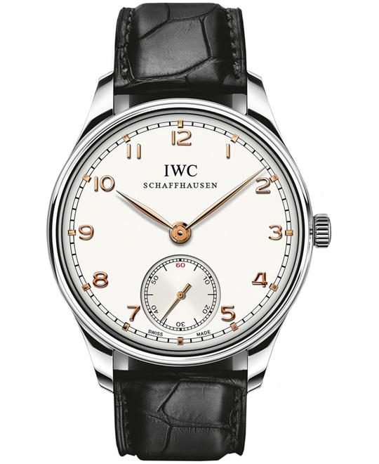 IWC IW545408 Mens Sapphire Stainless Steel Leather 44mm
