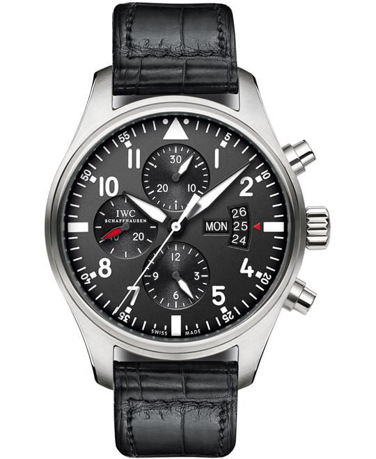 IWC IW377701 Mens Stainless Chronograph Leather 43mm
