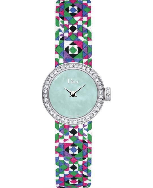 đồng hồ La Mini D De Dior CD040110A027 Mosaïque 19 mm