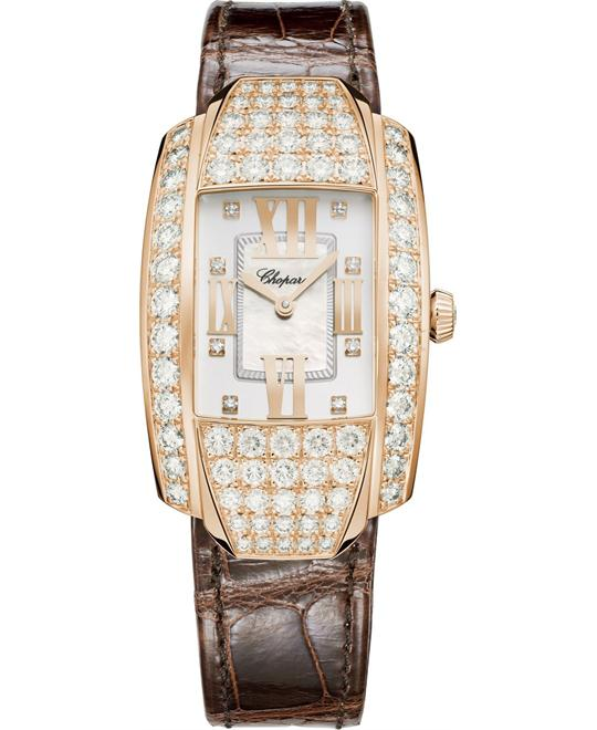 đồng hồ LA STRADA 419403-5004 18K ROSE AND DIAMONDS 44.80 x 26.10