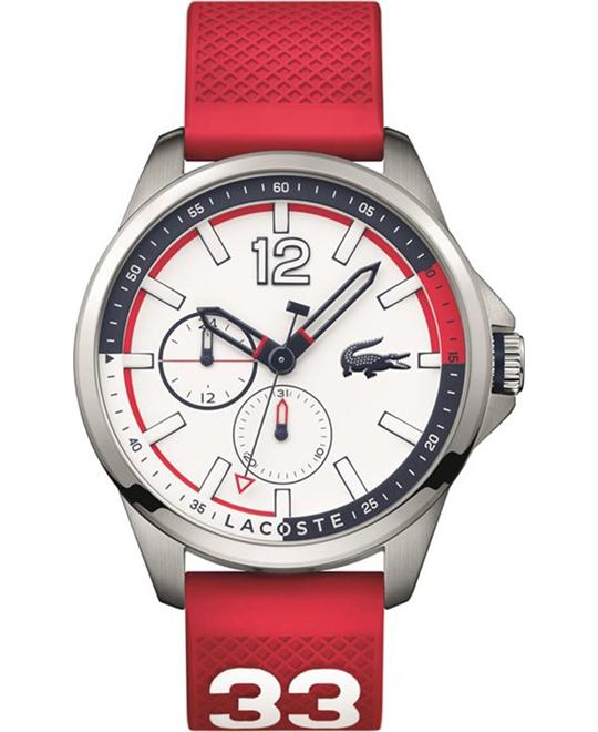 Lacoste Capbreton Red Silicone Strap Watch 46mm