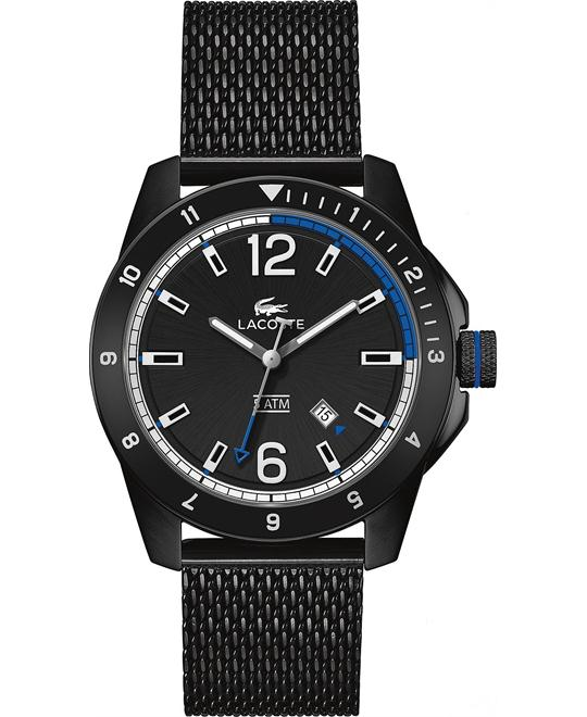 Lacoste Men's Durban Black Ionic-Plated, Watch 44mm
