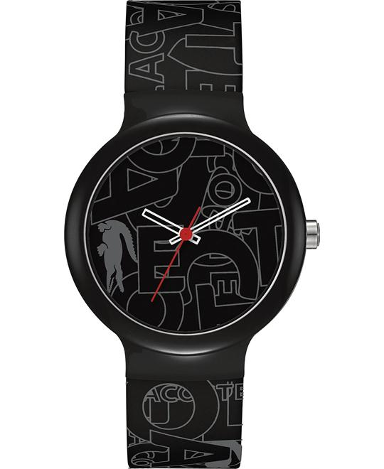 Lacoste Unisex Black and Gray Silicone Watch 40mm