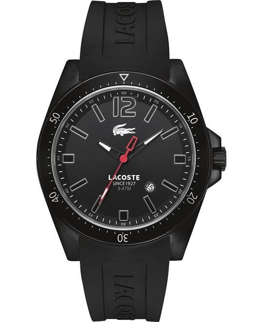 Lacoste Watch, Men's Black Silicone 43mm