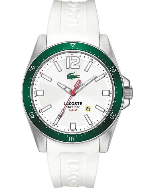 Lacoste Watch, Men's White Silicone 43mm