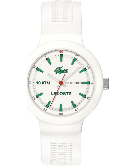 Lacoste Watch, Men's White Silicone 44mm