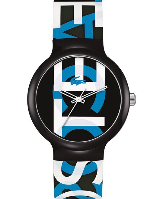 Lacoste Watch, Unisex - Printed Black Silicone 40mm