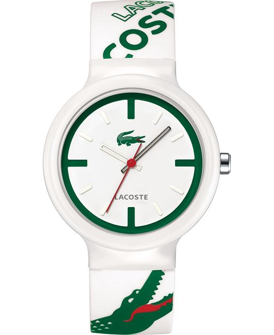 Lacoste Watch, White-Green Logo Silicone, 40mm