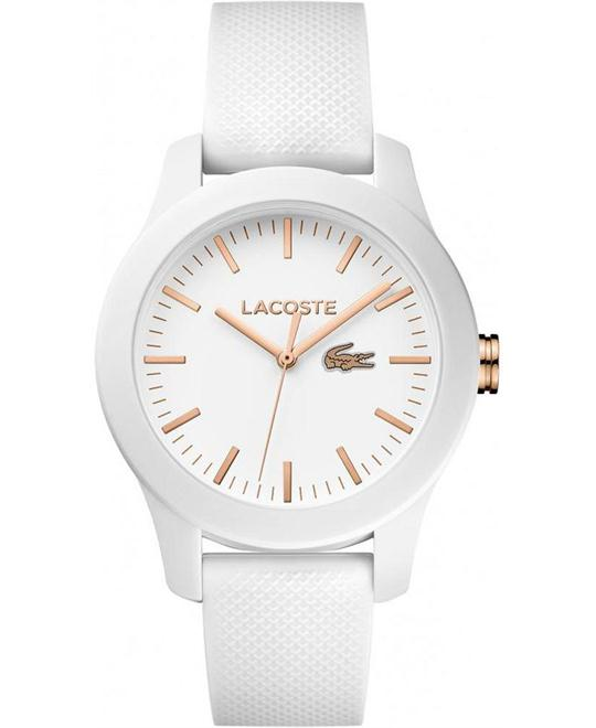 Lacoste White Rubber Watch 38mm