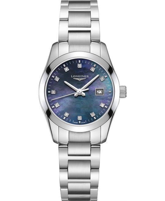 đồng hồ nữ Longines Conquest L2.386.4.88.6 Classic Quartz 34mm