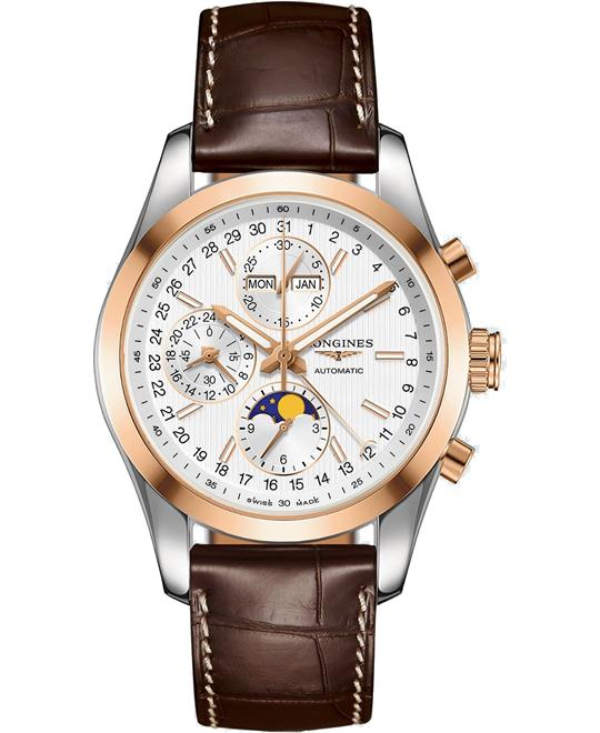 LONGINES L2.798.5.72.3 CONQUEST MOON PHASE 42MM