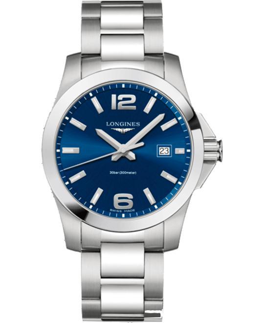 đồng hồ nam Longines Conquest L3.759.4.96.6 Blue Watch 41mm