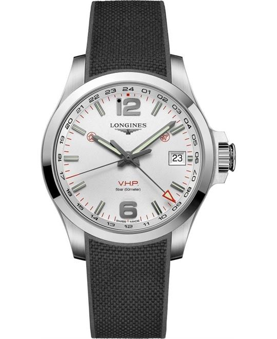 Longines Conquest V.H.P. GMT L3.718.4.76.9  Watch 41mm
