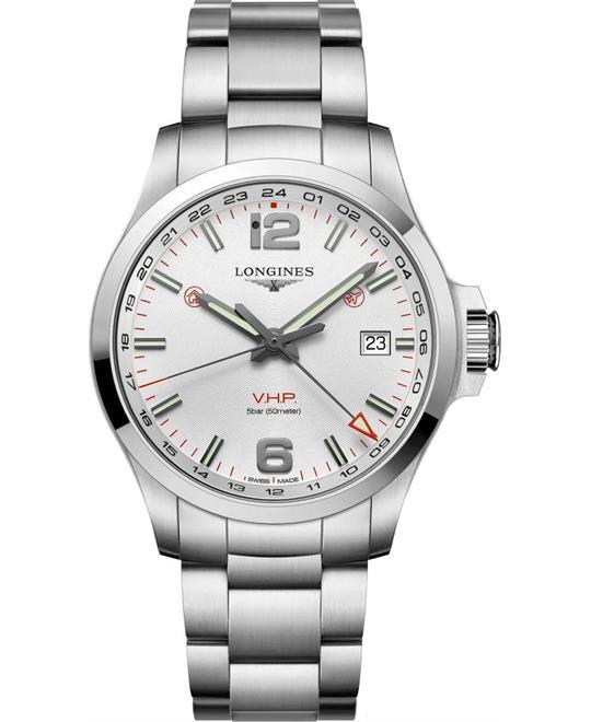 đồng hồ nam Longines Conquest V.H.P. GMT L3.728.4.76.6 Watch 43mm
