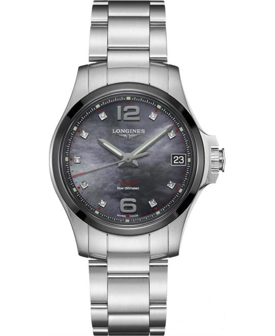 đồng hồ nữ thể thao Longines Conquest V.H.P. L3.319.4.88.6 Watch 36mm