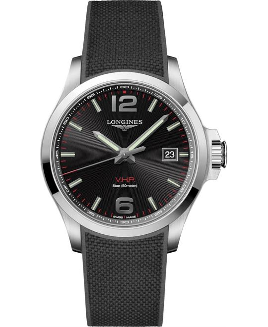Longines Conquest V.H.P. L3.726.4.56.9 Watch 43mm