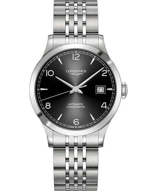 Longines L2.820.4.56.6 Record Watch 38.5mm