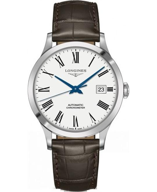 đồng hồ nam automatic Longines Record L2.821.4.11.2 Watch 40mm