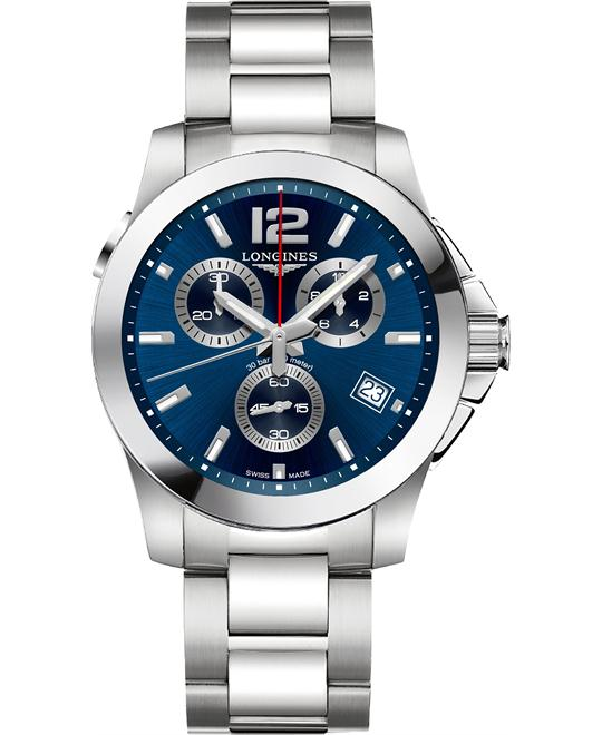 đồng hồ Longines Conquest L3.702.4.96.6 Watch 41mm