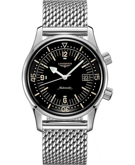 đồng hồ lặn cổ điển Longines Legend L3.774.4.50.6 Diver Automatic Watch 42mm