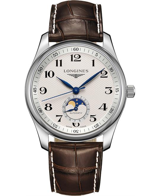 dong ho nam Longines Master L2.909.4.78.3 Moonphase 40mm