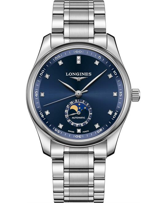 Longines Master L2.909.4.97.6 Moonphase Blue 40mm