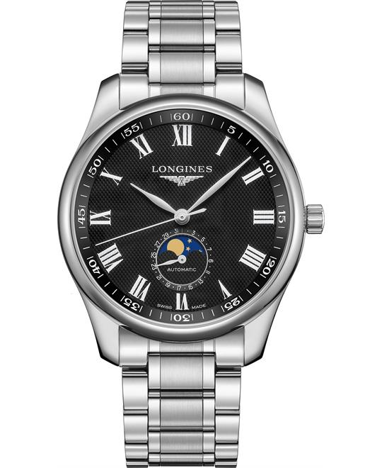 dong ho nam Longines Master L2.919.4.51.6 Moonphase 42mm