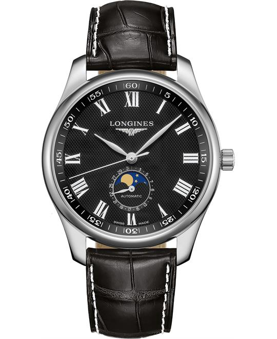 đồng hồ nam Longines Master L2.919.4.51.7 Moonphase 42mm