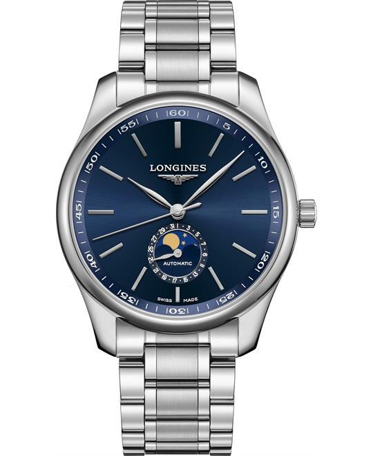 dong ho Longines Master L2.919.4.92.6 Moonphase Blue 42mm