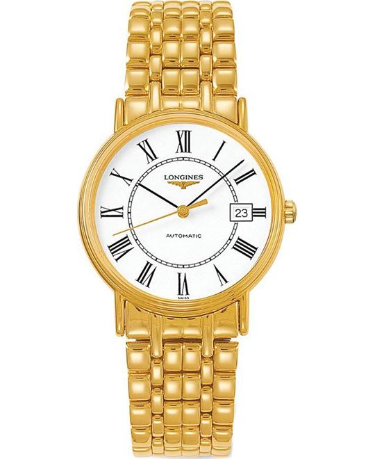 Longines Presence L4.821.2.11.8 Automatic Watch 34mm