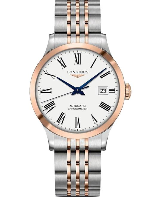 Longines Record L2.820.5.11.7 Automatic Watch 38.5mm