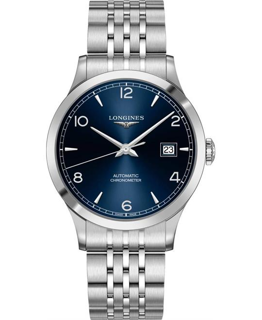 Longines Record L2.821.4.96.6 Watch 40mm