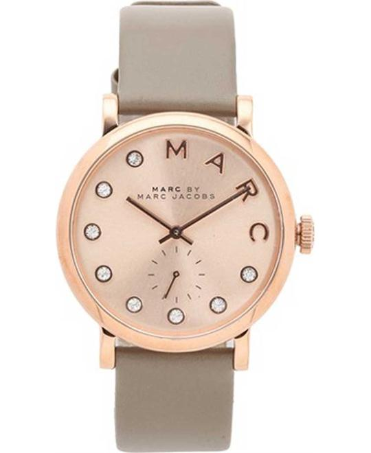 Marc By Marc Jacobs Baker Rose Gold Leather Ladies Watch 36mm