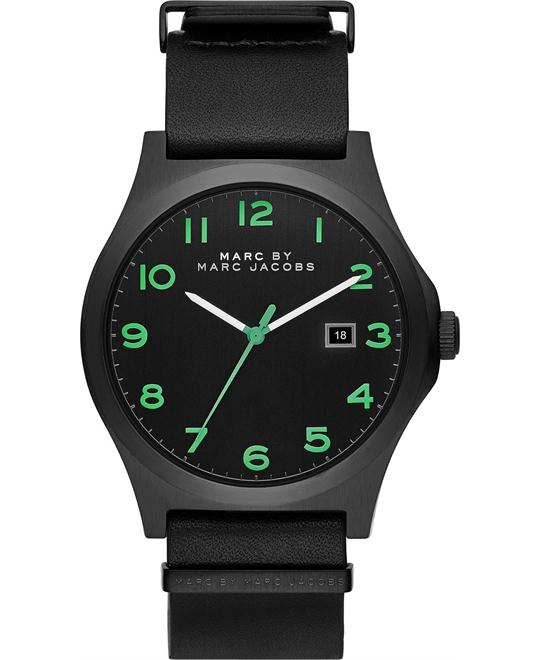 Marc by Marc Jacobs  Jimmy Black Leather Watch 43mm