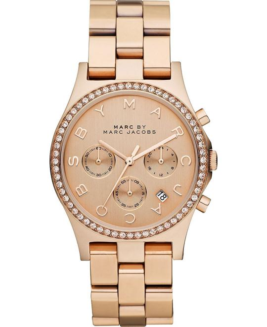 Marc by Marc Jacobs Henry Rose Gold Ion Plated Watch 40mm