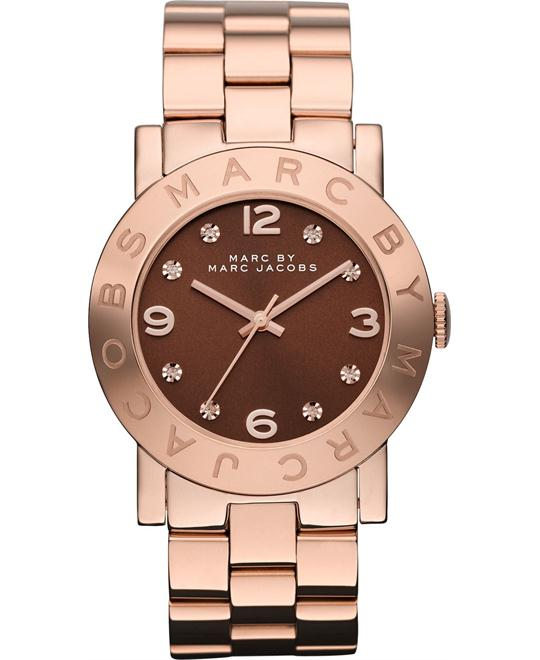 Marc by Marc Jacobs Amy Brown Dial Rose Gold Watch 36mm