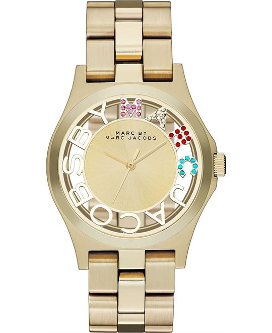 Marc by Marc Jacobs Henry Gold Tone Skeleton Glitz  Watch 40mm