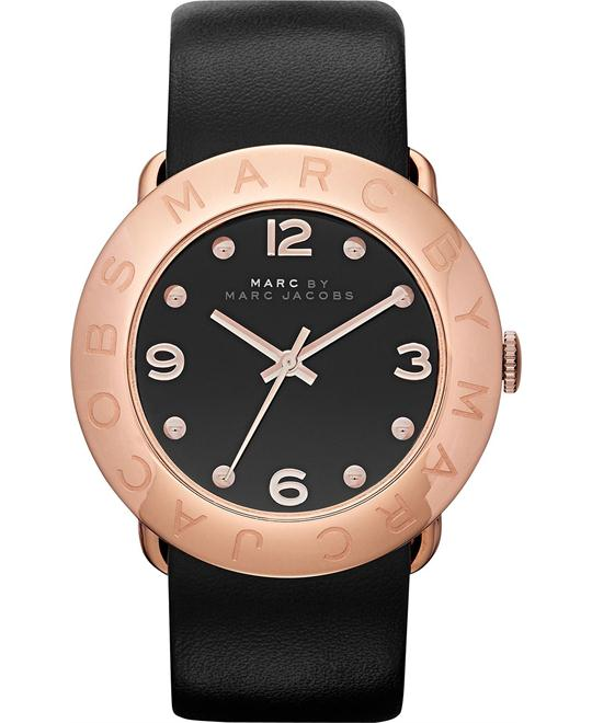 Marc by Marc Jacobs Amy Black Dial Watch 36mm
