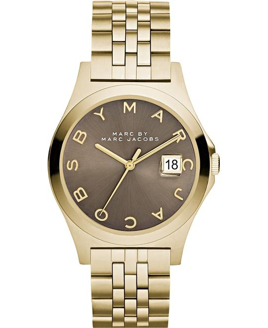 Marc by Marc Jacobs SLIM Gold Tone/Brown Dial Watch 36mm