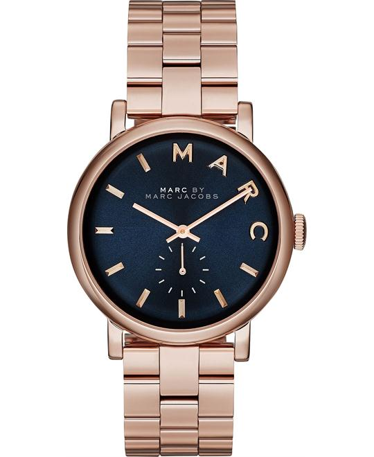 Marc Jacobs 'Baker' Rose Navy Watch 36mm